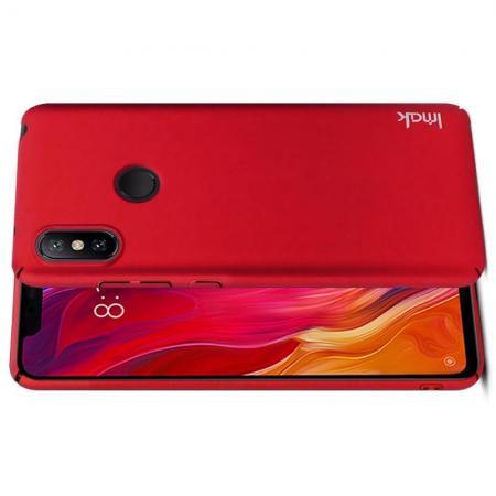 Пластиковый матовый кейс футляр IMAK Jazz чехол для Xiaomi Redmi Note 6 / Note 6 Pro Красный + Защитная пленка