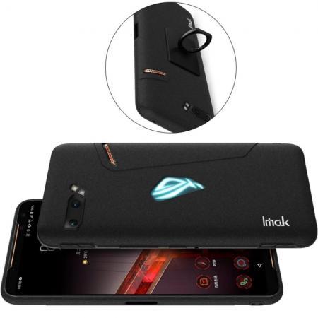 Пластиковый матовый кейс футляр IMAK Matte чехол для Asus ROG Phone 2 Песочно-Черный Ультратонкий