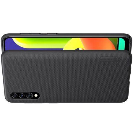 Пластиковый нескользящий NILLKIN Frosted кейс чехол для Samsung Galaxy A50 / Galaxy A50 Черный + подставка