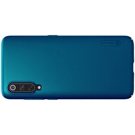 Пластиковый нескользящий NILLKIN Frosted кейс чехол для Xiaomi Mi 9 Зеленый + подставка
