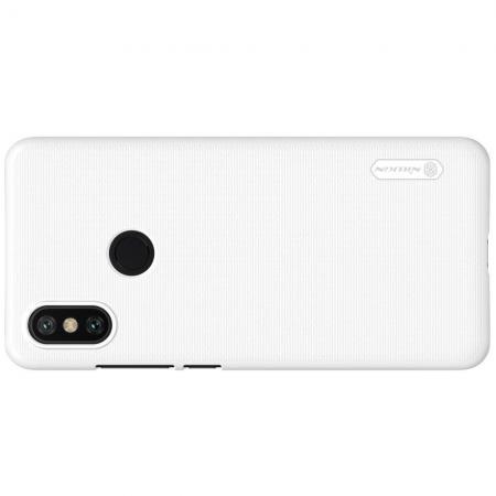 Пластиковый нескользящий NILLKIN Frosted кейс чехол для Xiaomi Mi A2 / Mi 6X Белый + защитная пленка
