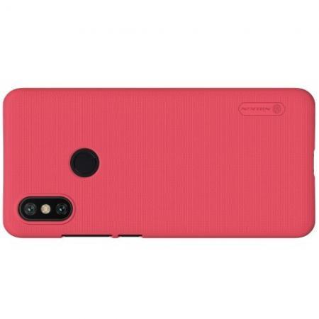 Пластиковый нескользящий NILLKIN Frosted кейс чехол для Xiaomi Mi A2 / Mi 6X Красный + защитная пленка