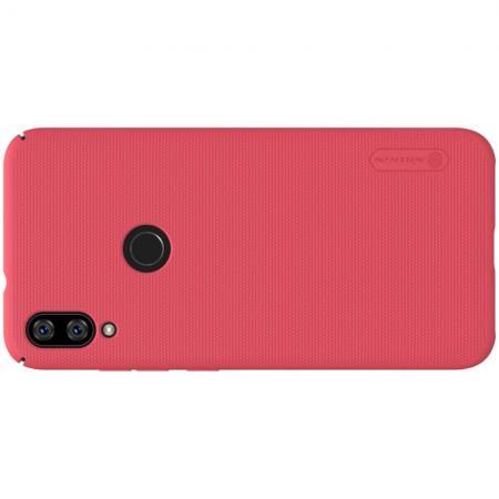 Пластиковый нескользящий NILLKIN Frosted кейс чехол для Xiaomi Mi Play Красный + защитная пленка
