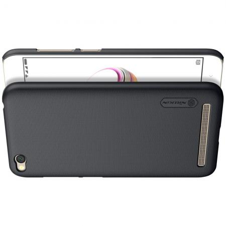 Пластиковый нескользящий NILLKIN Frosted кейс чехол для Xiaomi Redmi 5a Черный + защитная пленка