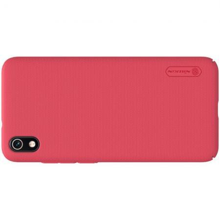 Пластиковый нескользящий NILLKIN Frosted кейс чехол для Xiaomi Redmi 7A Красный + подставка