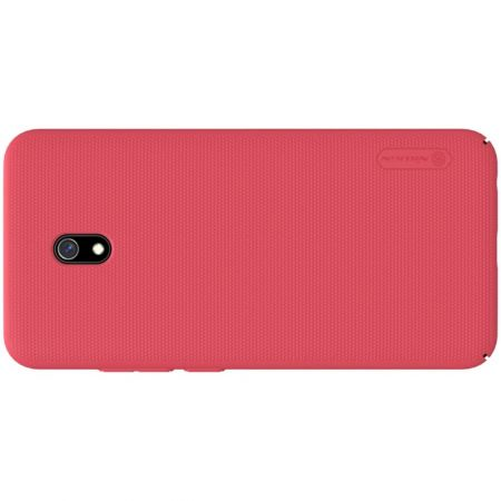 Пластиковый нескользящий NILLKIN Frosted кейс чехол для Xiaomi Redmi 8A Красный + подставка