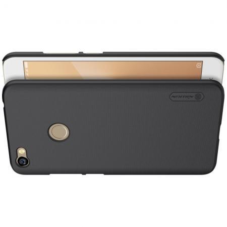Пластиковый нескользящий NILLKIN Frosted кейс чехол для Xiaomi Redmi Note 5A Prime 3/32gb 4/64gb Черный + защитная пленка