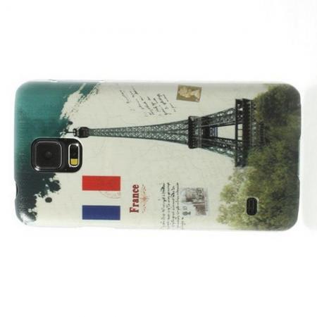 Пластиковый с Рисунком Чехол для Samsung Galaxy S5 Париж
