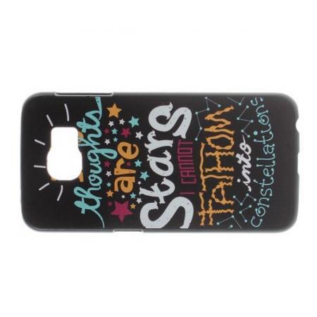 Пластиковый с Рисунком Чехол для Samsung Galaxy S6 Текст