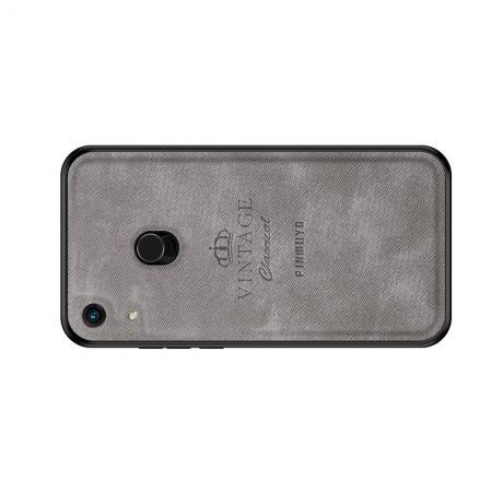 Пластиковый Жесткий Клип Кейс Футляр Искусственно Кожаный Чехол для Huawei Honor 8A Pro Серый