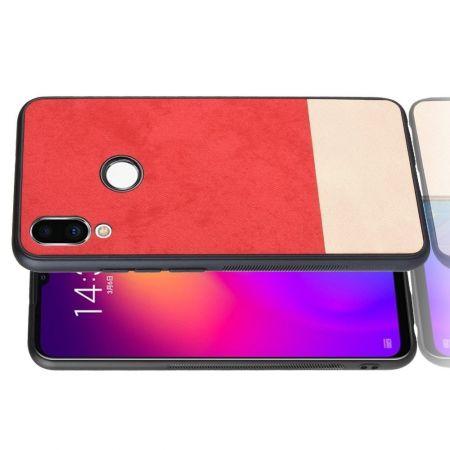 Пластиковый Жесткий Клип Кейс Футляр Искусственно Кожаный Чехол для Meizu Note 9 Красный