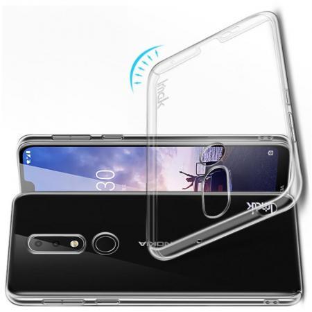 Пластиковый Жесткий Прозрачный Корпус IMAK Чехол для Nokia 6.1 Plus