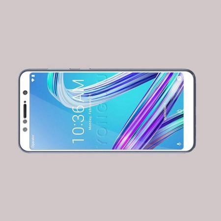 Полноэкранное Закаленное Олеофобное DF Full Screen Защитное Стекло Белое для Asus Zenfone Max Pro M1 ZB602KL