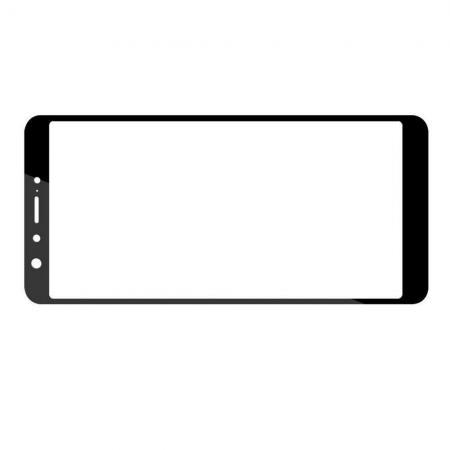 Полноэкранное Закаленное Олеофобное DF Full Screen Защитное Стекло Черное для Asus Zenfone Max Pro M1 ZB602KL