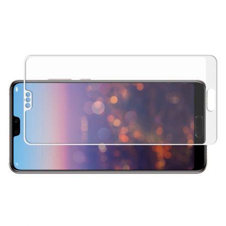 Полноэкранное Закаленное Олеофобное DF Full Screen Защитное Стекло Белое для Huawei P20 Pro