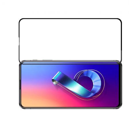 Полноэкранное Закаленное Олеофобное DF Full Screen Защитное Стекло Черное для Asus Zenfone 6 ZS630KL