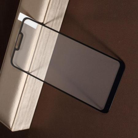 Полноэкранное Закаленное Олеофобное DF Full Screen Защитное Стекло Черное для Asus Zenfone Max M2 ZB633KL