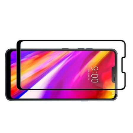 Полноэкранное Закаленное Олеофобное DF Full Screen Защитное Стекло Черное для Asus Zenfone Max Pro M2 ZB631KL