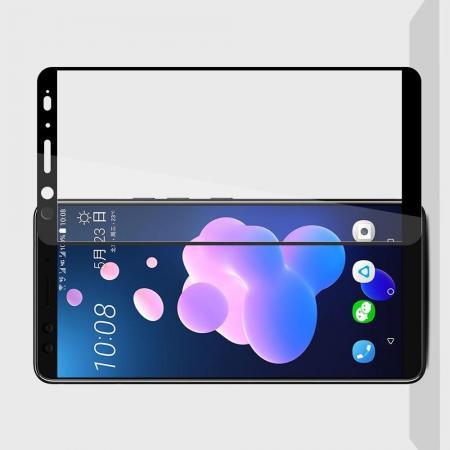 Полноэкранное Закаленное Олеофобное DF Full Screen Защитное Стекло Черное для HTC U12+