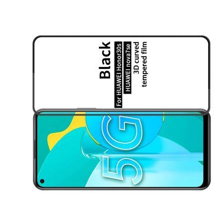 Полноэкранное Закаленное Олеофобное DF Full Screen Защитное Стекло Черное для Huawei Honor 30S / Honor 30S