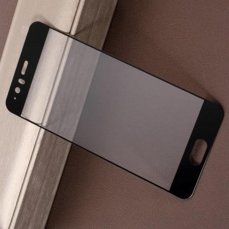 Полноэкранное Закаленное Олеофобное DF Full Screen Защитное Стекло Черное для Huawei P10