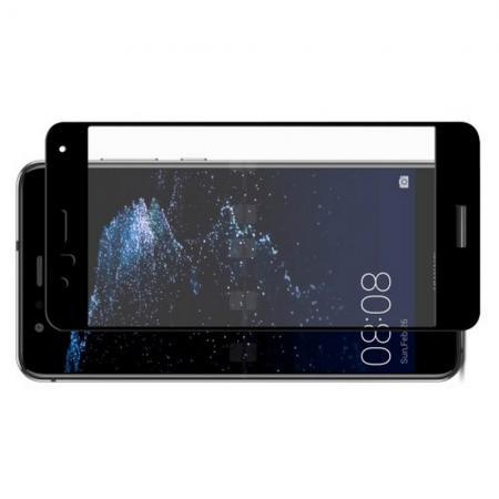 Полноэкранное Закаленное Олеофобное DF Full Screen Защитное Стекло Черное для Huawei P10 Lite