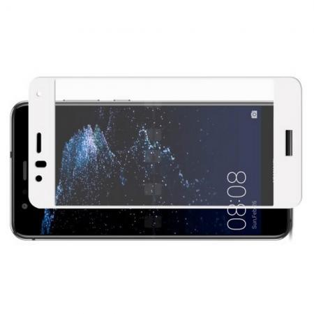 Полноэкранное Закаленное Олеофобное DF Full Screen Защитное Стекло Белое для Huawei P10 Lite
