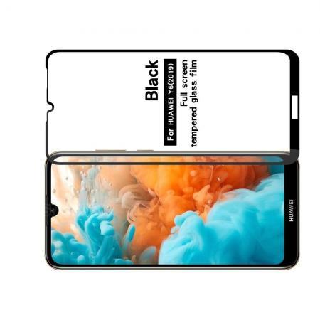 Полноэкранное Закаленное Олеофобное DF Full Screen Защитное Стекло Черное для Huawei Y6 2019