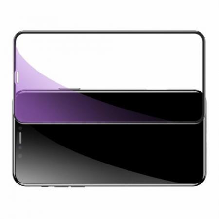 Полноэкранное Закаленное Олеофобное DF Full Screen Защитное Стекло Черное для iPhone 11 Pro Max