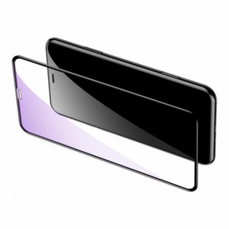 Полноэкранное Закаленное Олеофобное DF Full Screen Защитное Стекло Черное для iPhone 11 Pro
