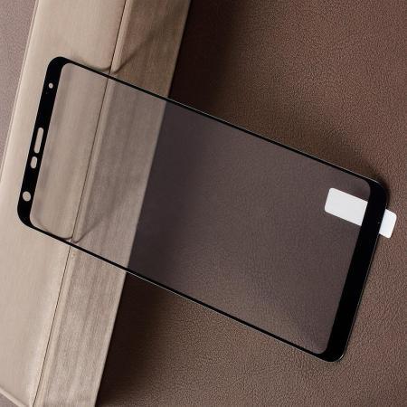 Полноэкранное Закаленное Олеофобное DF Full Screen Защитное Стекло Черное для LG Q Stylus+
