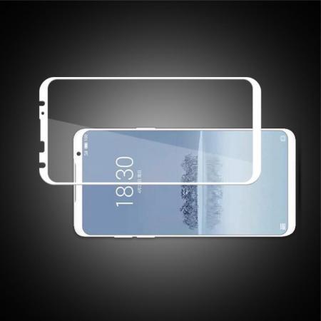 Полноэкранное Закаленное Олеофобное DF Full Screen Защитное Стекло Белое для Meizu 16 Plus