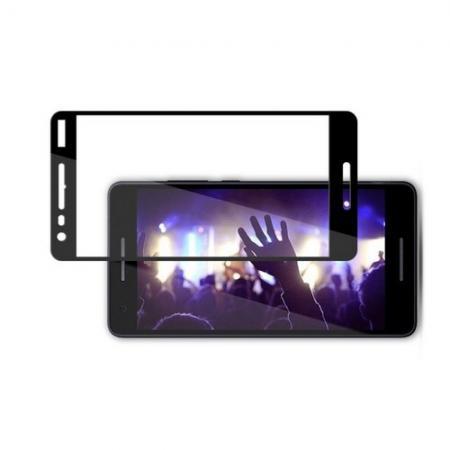 Полноэкранное Закаленное Олеофобное DF Full Screen Защитное Стекло Черное для Nokia 2.1 2018