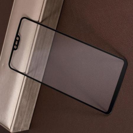 Полноэкранное Закаленное Олеофобное DF Full Screen Защитное Стекло Черное для OnePlus 6