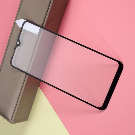 Полноэкранное Закаленное Олеофобное DF Full Screen Защитное Стекло Черное для Samsung Galaxy A10