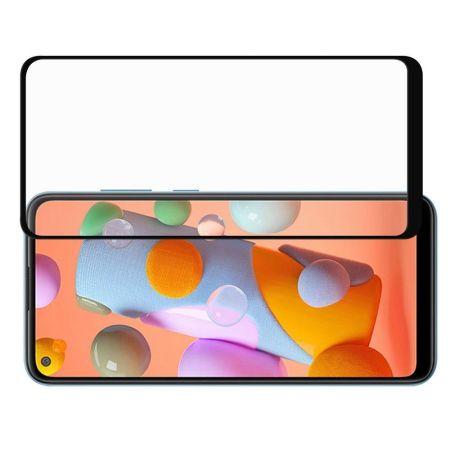Полноэкранное Закаленное Олеофобное DF Full Screen Защитное Стекло Черное для Samsung Galaxy A11