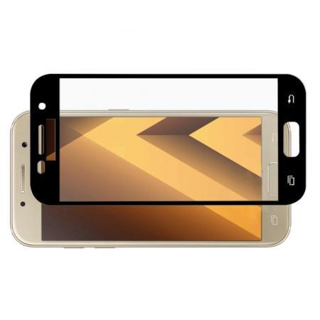 Полноэкранное Закаленное Олеофобное DF Full Screen Защитное Стекло Черное для Samsung Galaxy A5 2017 SM-A520F