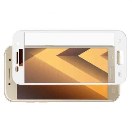Полноэкранное Закаленное Олеофобное DF Full Screen Защитное Стекло Белое для Samsung Galaxy A5 2017 SM-A520F
