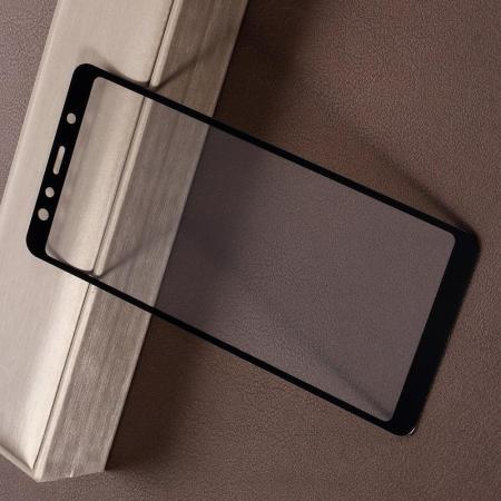 Полноэкранное Закаленное Олеофобное DF Full Screen Защитное Стекло Черное для Samsung Galaxy A7 2018 SM-A750