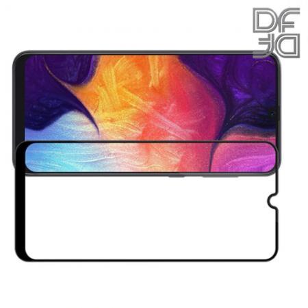 Полноэкранное Закаленное Олеофобное DF Full Screen Защитное Стекло Черное для Samsung Galaxy A70