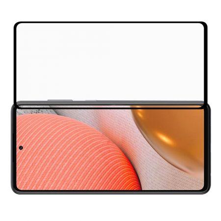 Полноэкранное Закаленное Олеофобное DF Full Screen Защитное Стекло Черное для Samsung Galaxy A72