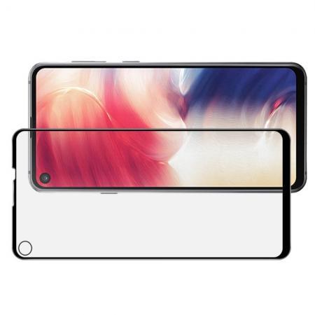 Полноэкранное Закаленное Олеофобное DF Full Screen Защитное Стекло Черное для Samsung Galaxy A8s