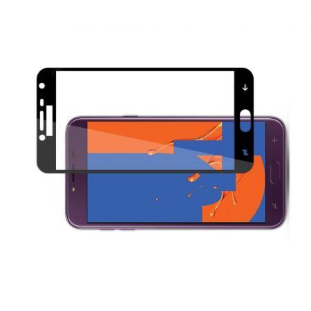 Полноэкранное Закаленное Олеофобное DF Full Screen Защитное Стекло Черное для Samsung Galaxy J4 2018 SM-J400