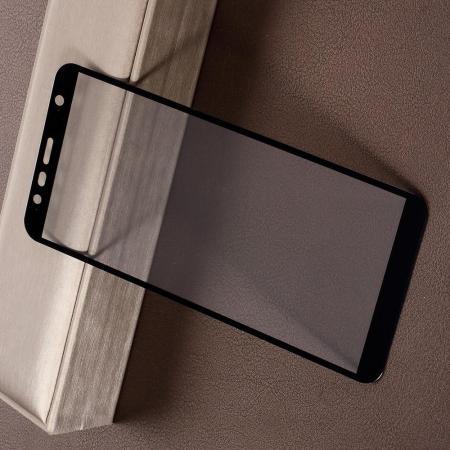 Полноэкранное Закаленное Олеофобное DF Full Screen Защитное Стекло Черное для Samsung Galaxy J6 Plus 2018 SM-J610F