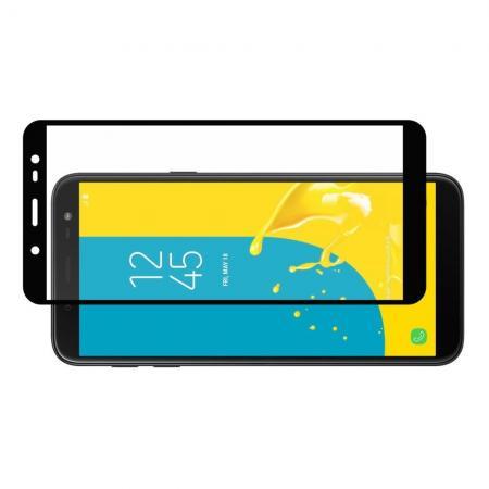 Полноэкранное Закаленное Олеофобное DF Full Screen Защитное Стекло Черное для Samsung Galaxy J6 SM-J600