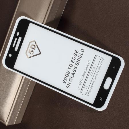 Полноэкранное Закаленное Олеофобное DF Full Screen Защитное Стекло Черное для Samsung Galaxy J7 2018