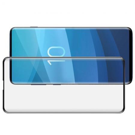 Полноэкранное Закаленное Олеофобное DF Full Screen Защитное Стекло Черное для Samsung Galaxy S10 Plus