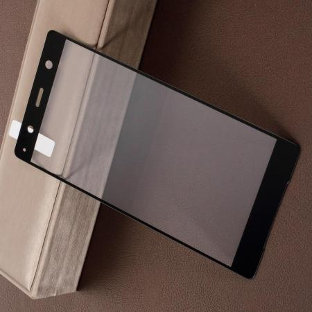 Полноэкранное Закаленное Олеофобное DF Full Screen Защитное Стекло Черное для Sony Xperia XZ2 Premium