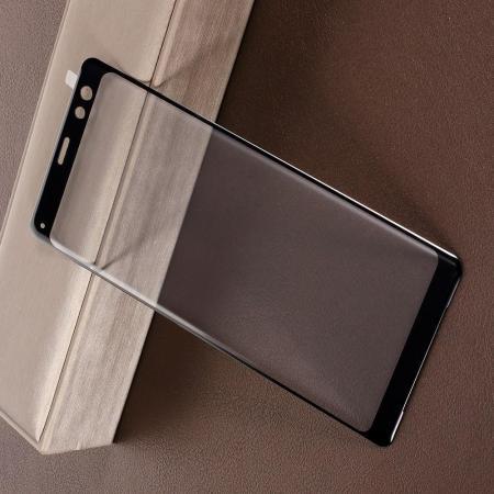 Полноэкранное Закаленное Олеофобное DF Full Screen Защитное Стекло Черное для Sony Xperia XZ3