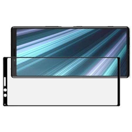 Полноэкранное Закаленное Олеофобное DF Full Screen Защитное Стекло Черное для Sony Xperia 1